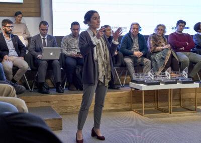 Sandra Curto durante su exposición