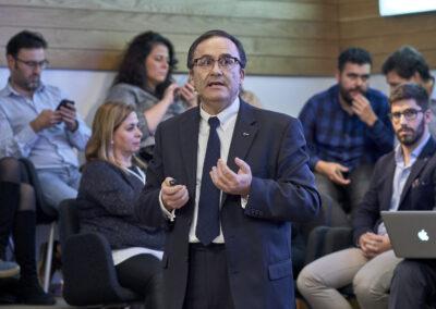 Juan Antonio Belmonte durante su exposición