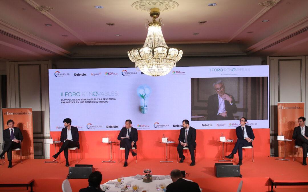 Jornada empresarial: El papel de las renovables y la eficiencia energética en los fondos europeos